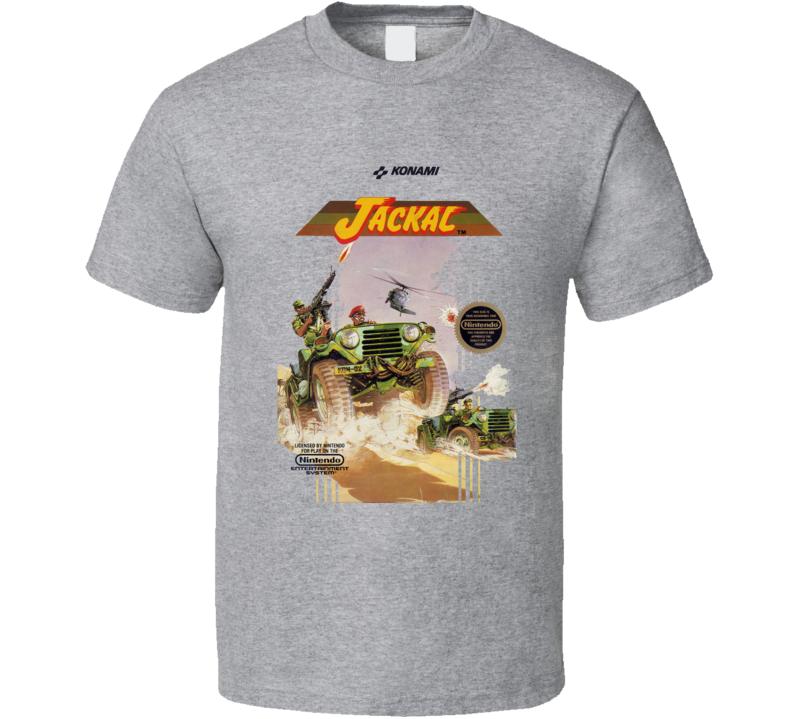 Jackal Nes Box Art Video Game T Shirt