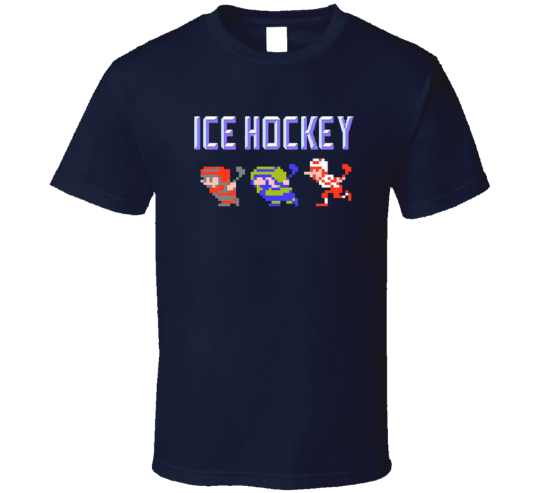 Ice Hockey Nes Characters Video Game Hockey T Shirt