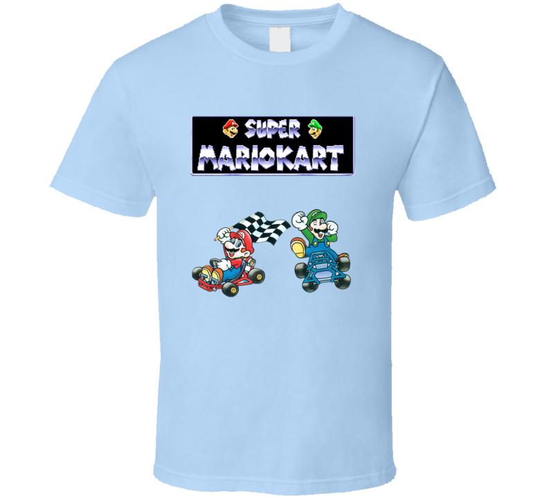 Super Mariokart Snes Retro Video Game T Shirt