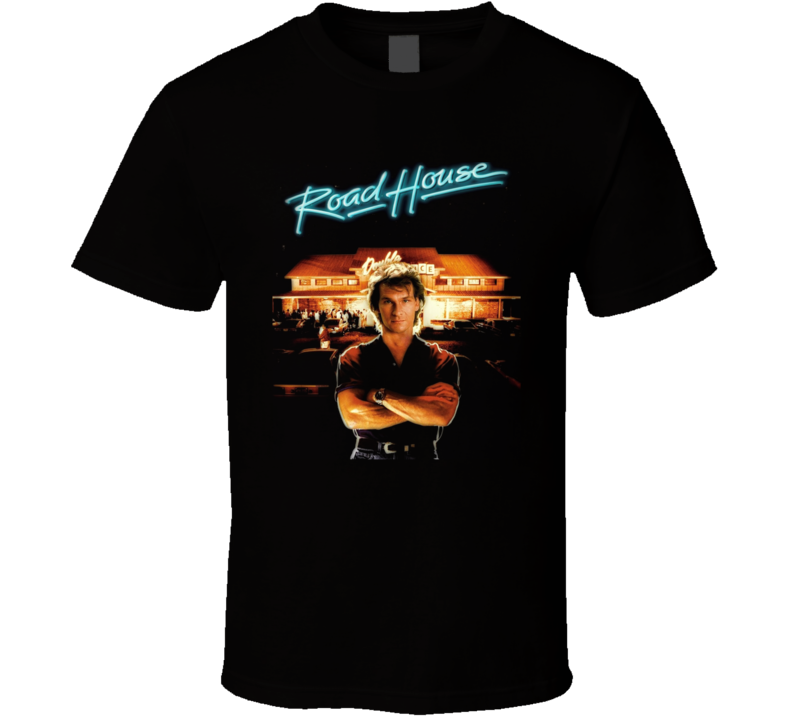 Roadhouse Patrick Swayze Retro 80's Movie T Shirt