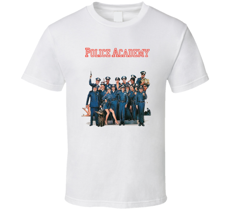 Police Academy 80's Retro Funny Movie T Shirt