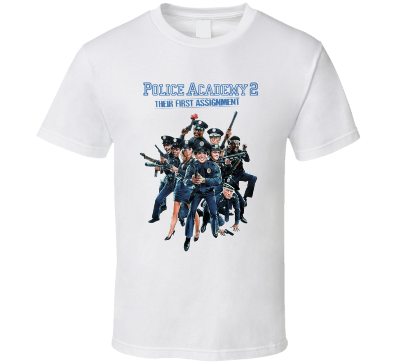 Police Academy 2 80's Retro Funny Movie T Shirt
