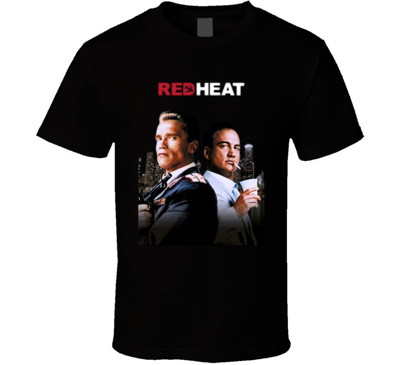 Red Heat Schwarzenegger 80's Action Movie T Shirt