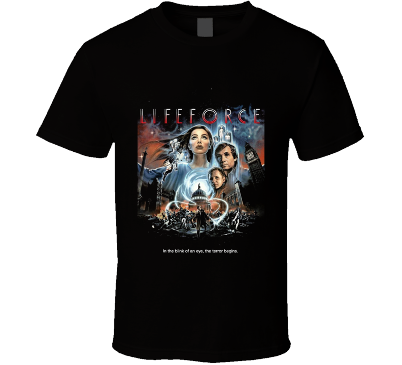 Lifeforce Retro 80's Science Fiction Movie T Shirt