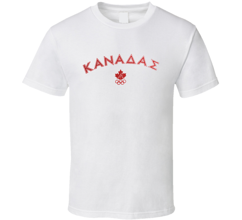 Canada Athens 2004 Summer Olympics T Shirt