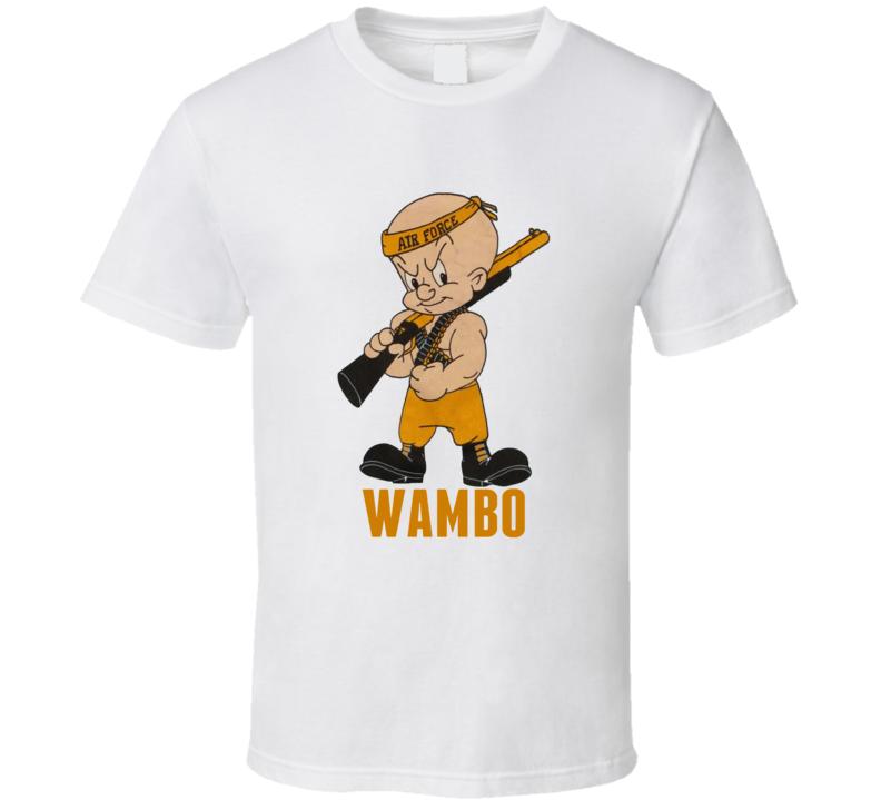 Elmer Fudd Wambo Rambo Parody Funny Cartoon T Shirt