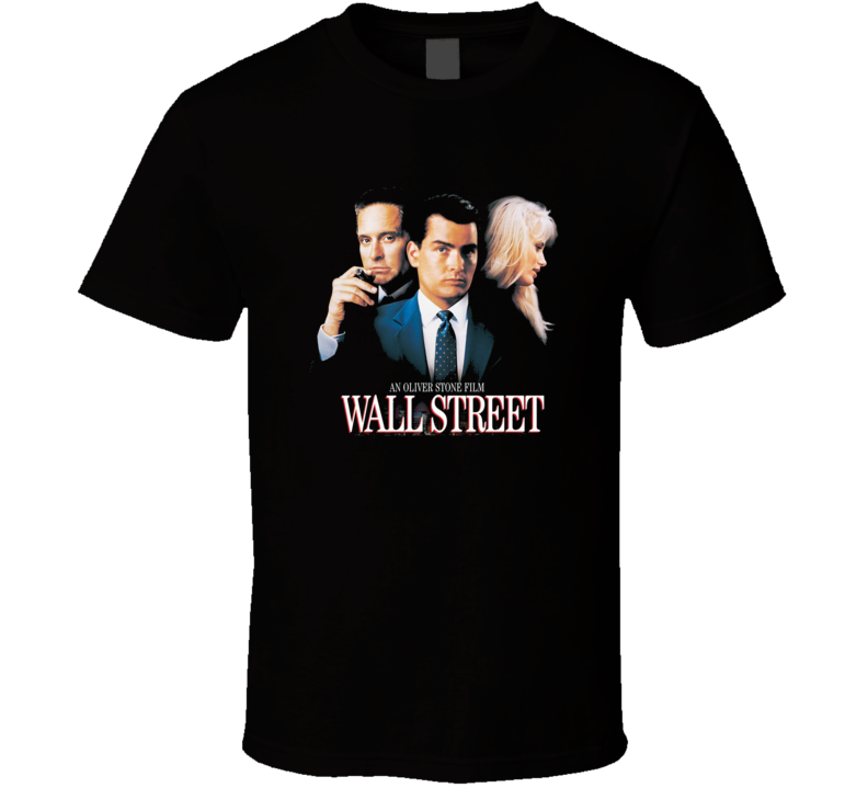 Wall Street Charlie Sheen Retro 80's Movie T Shirt