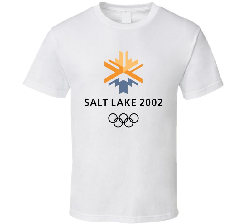2002 Salt Lake City Usa Olympics Logo T Shirt