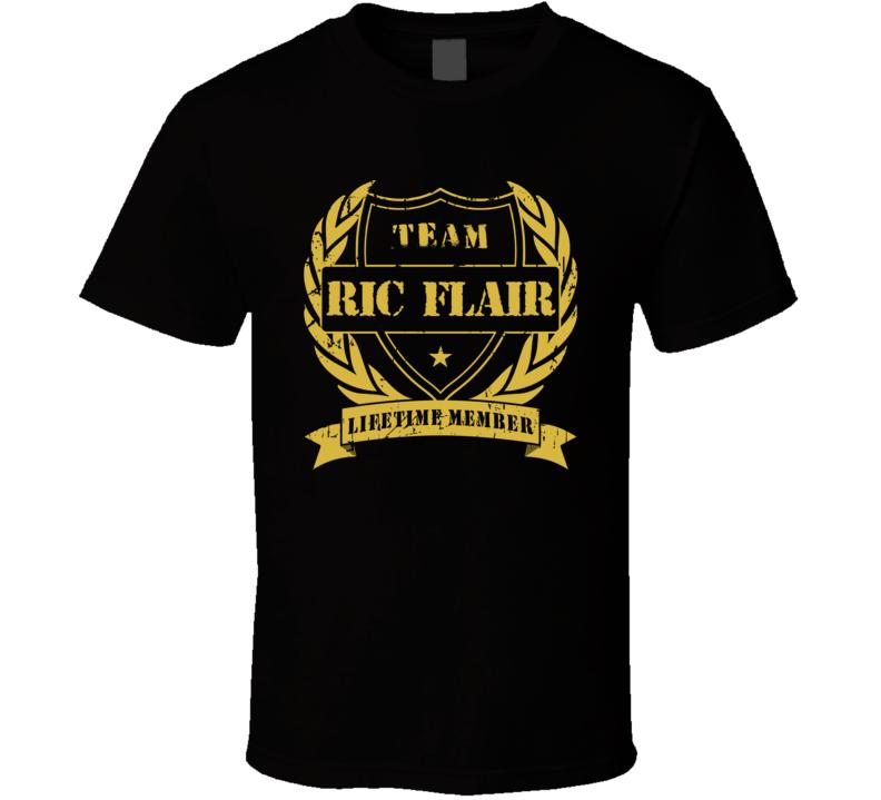Ric Flair Team Lifetime Member Wrestling T Shirt