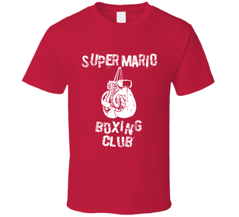 Super Mario Mike Tyson's Punchout Boxing Club T Shirt