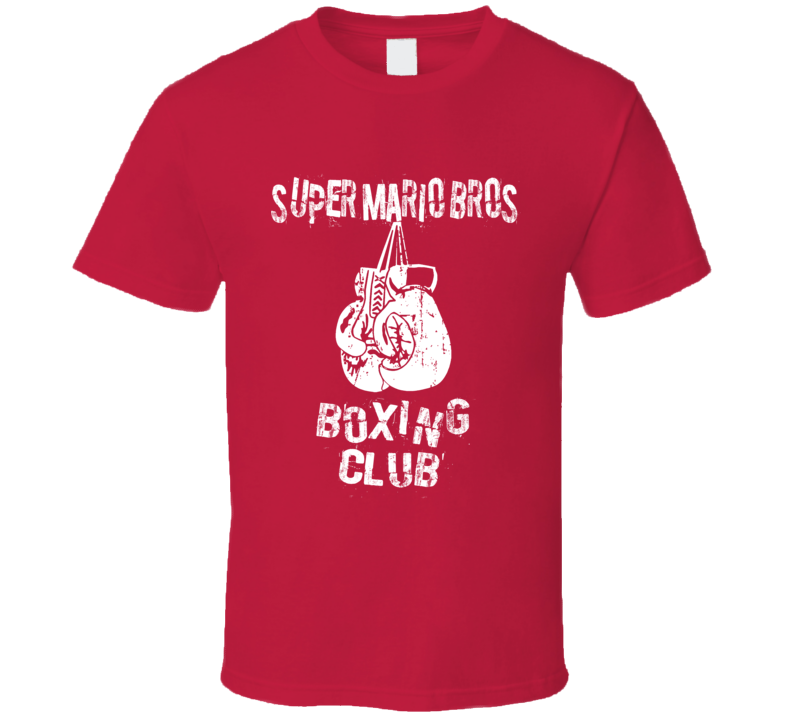 Super Mario Bros Boxing Club Nintendo Funny T Shirt