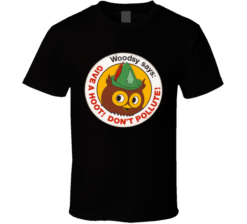 Woodsy The Owl Don't Pollute Environment Retro T Shirt