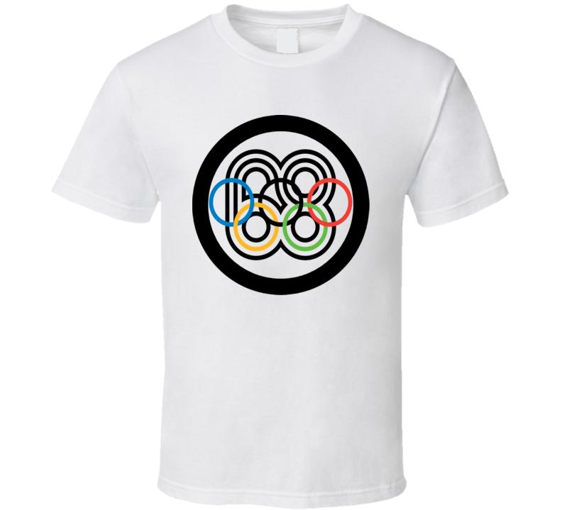 1968 Mexico Host Olympics Logo T Shirt