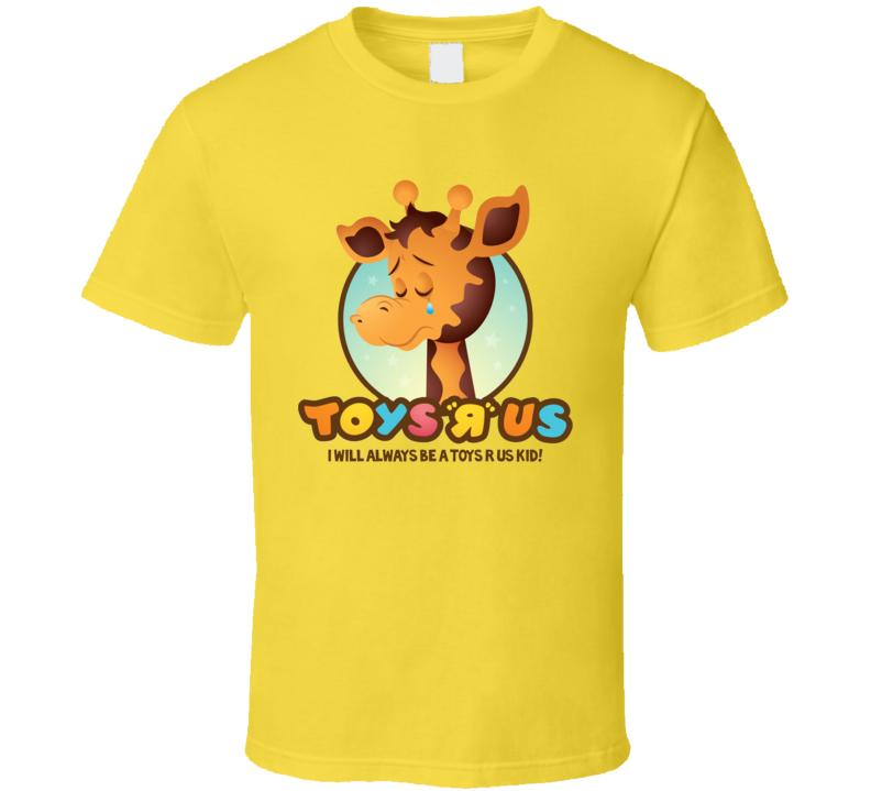 Toys R Us Giraffe Kids Toys Yellow T Shirt