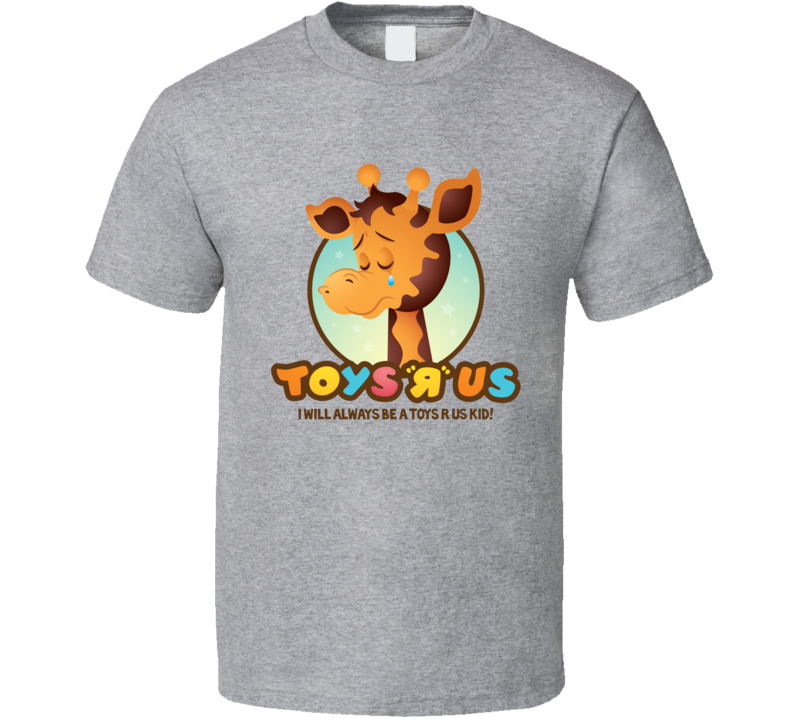 Toys R Us Giraffe Kids Toys Grey T Shirt