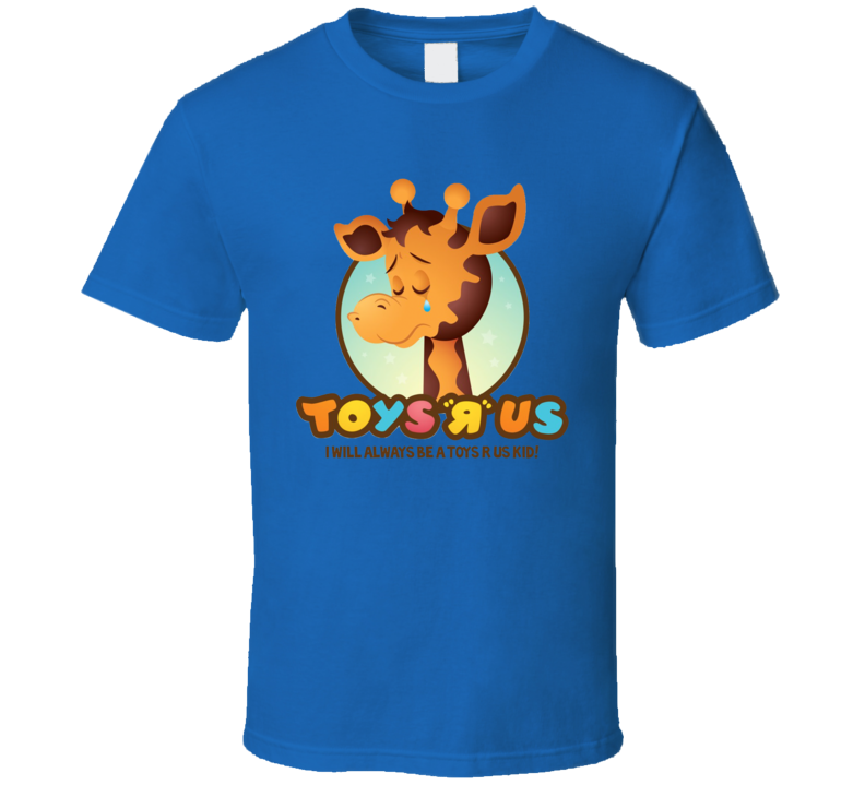 Toys R Us Giraffe Kids Toys Blue T Shirt