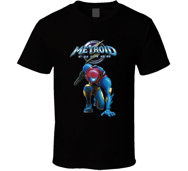 Metroid Fusion Retro Video Game T Shirt