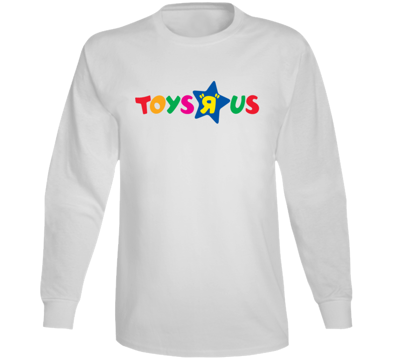 Toys R Us Retro Kids Store Logo Long Sleeve White T Shirt