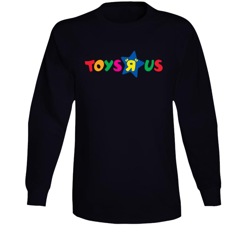 Toys R Us Retro Kids Store Logo Long Sleeve Black T Shirt