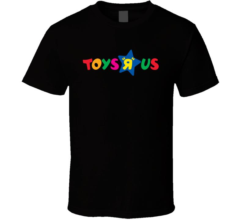 Toys R Us Retro Kids Store Logo Black T Shirt
