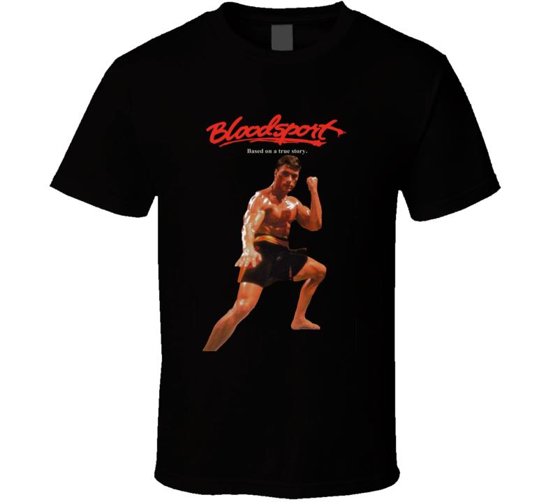 Bloodsport Van Damme Retro Fighting Movie T Shirt