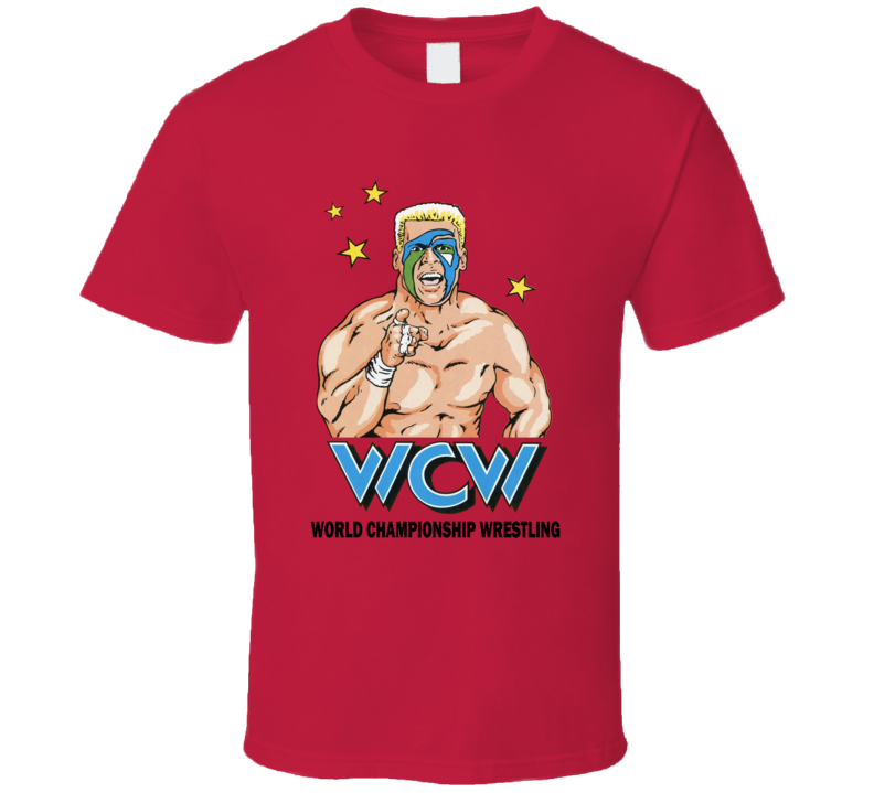 Wcw Sting Retro Wrestling Legend Red T Shirt