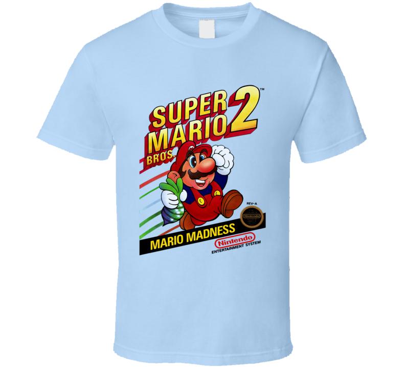 Super Mario Bros. 2 Nes Box Art Video Game T Shirt