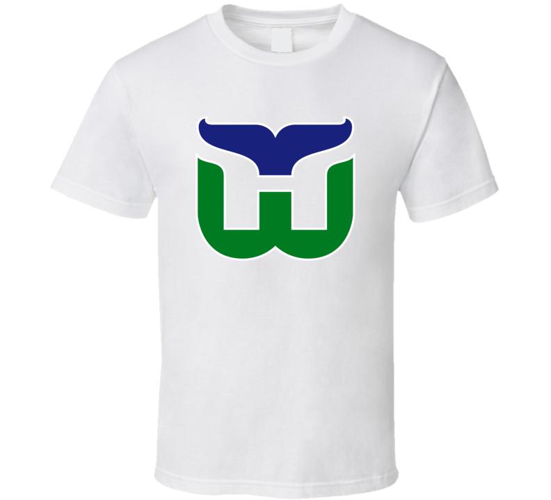 Hartford Whalers Retro Hockey Team Logo T Shirt