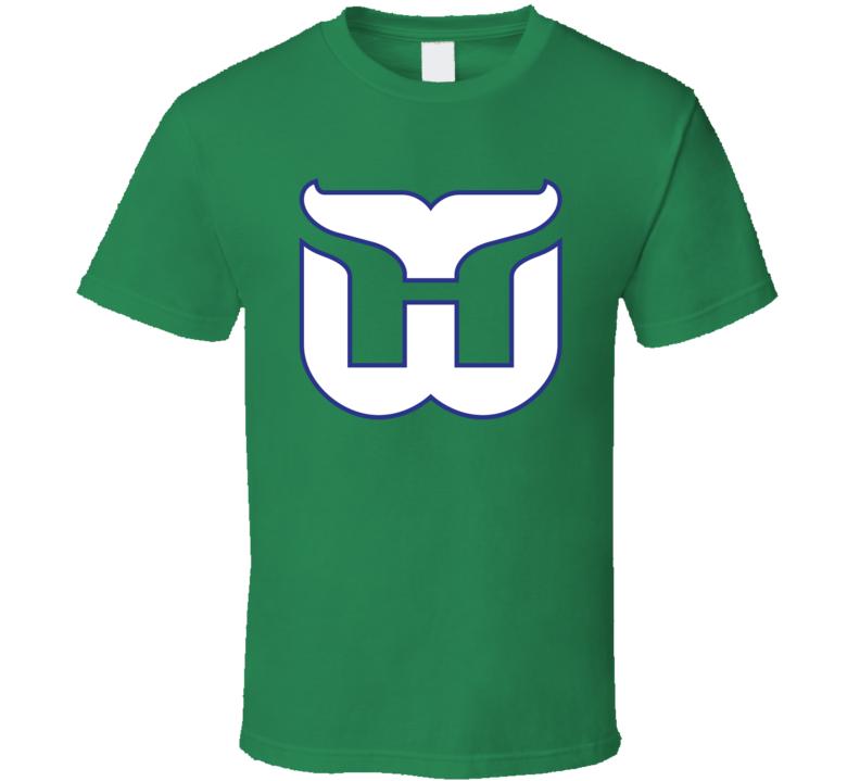 Hartford Whalers Classic Retro Logo T Shirt