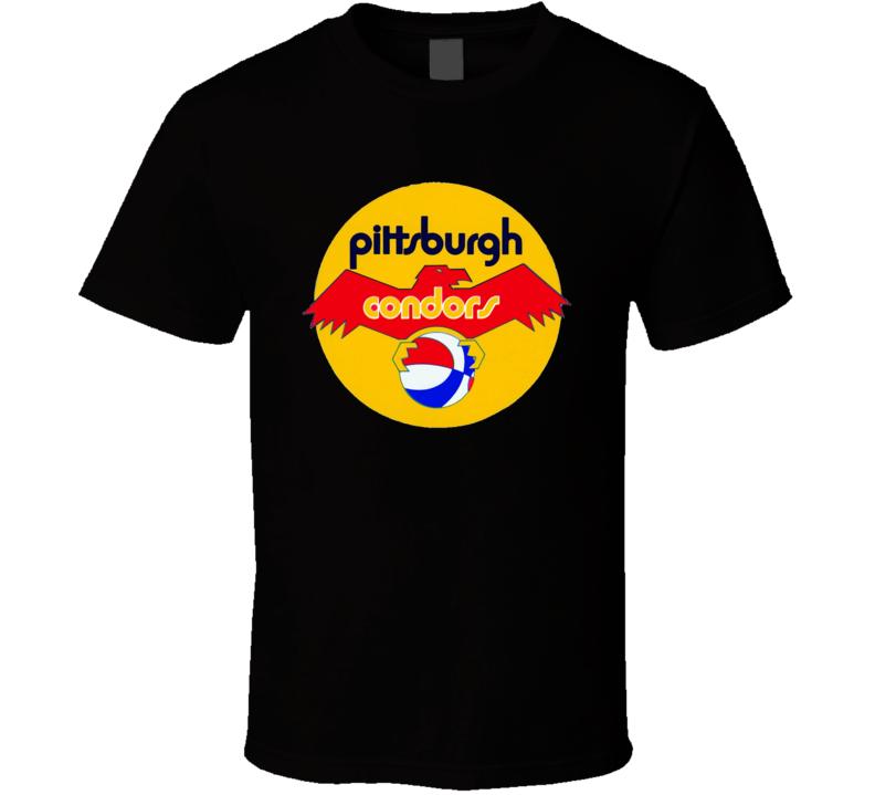 Pittsburgh Condors Aba Retro Basketball T Shirt