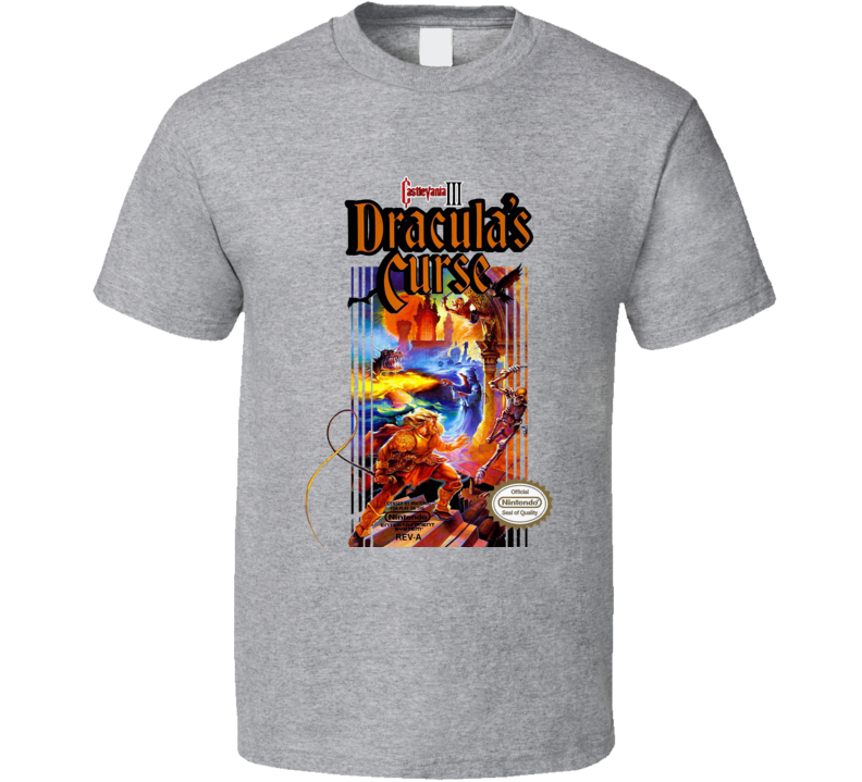 Castlevania 3 Dracula's Curse Retro Video Game T Shirt