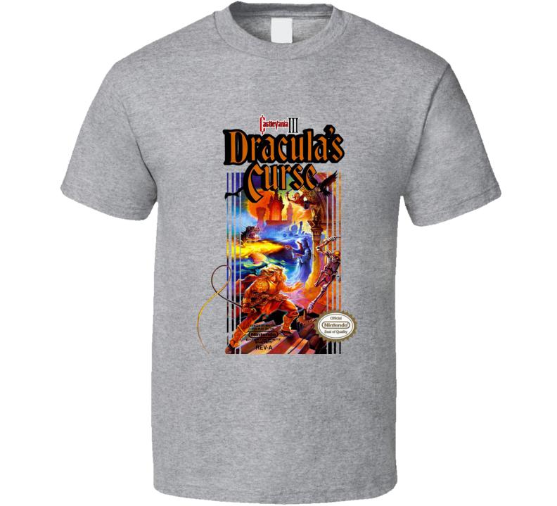 Castlevania 3 Dracula's Curse Retro Video Game T Shirt