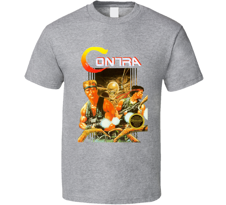 Contra Retro Nes Box Art Video Game T Shirt