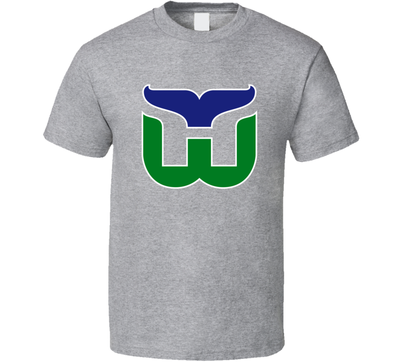 Hartford Whalers Retro Hockey Old School T Shirt