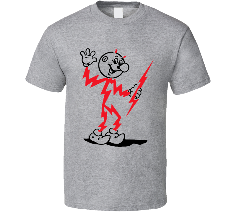 Reddy Kilowatt Electrical Mascot Retro T Shirt
