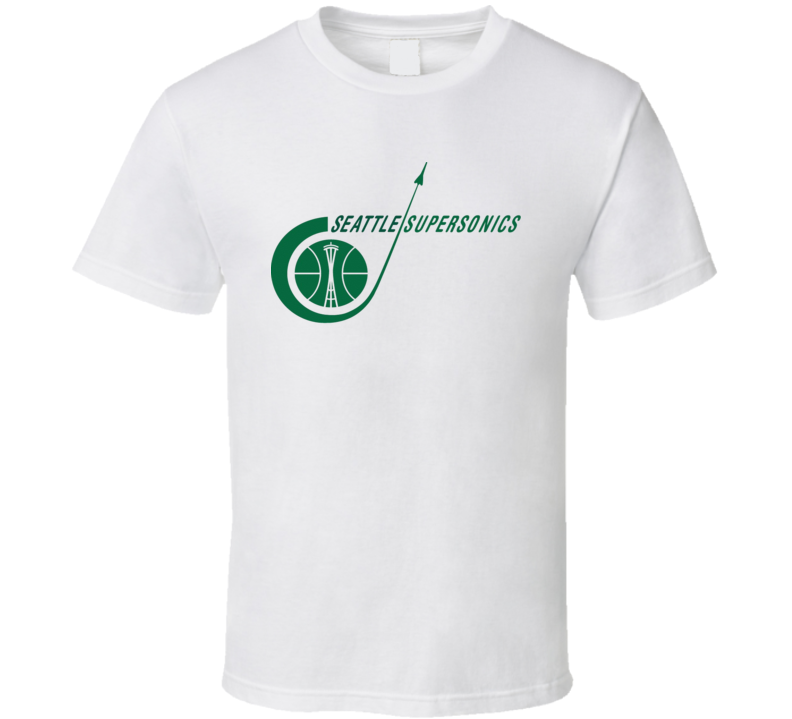 Seattle Supersonics Retro Basketball Logo T Shirt