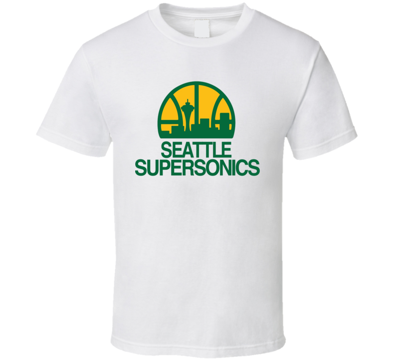 Seattle Supersonics 90's Logo Basketball T Shirt