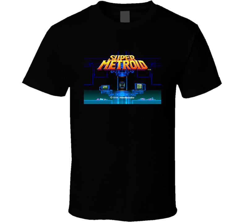 Super Metroid Game Intro Snes Retro Video Game T Shirt