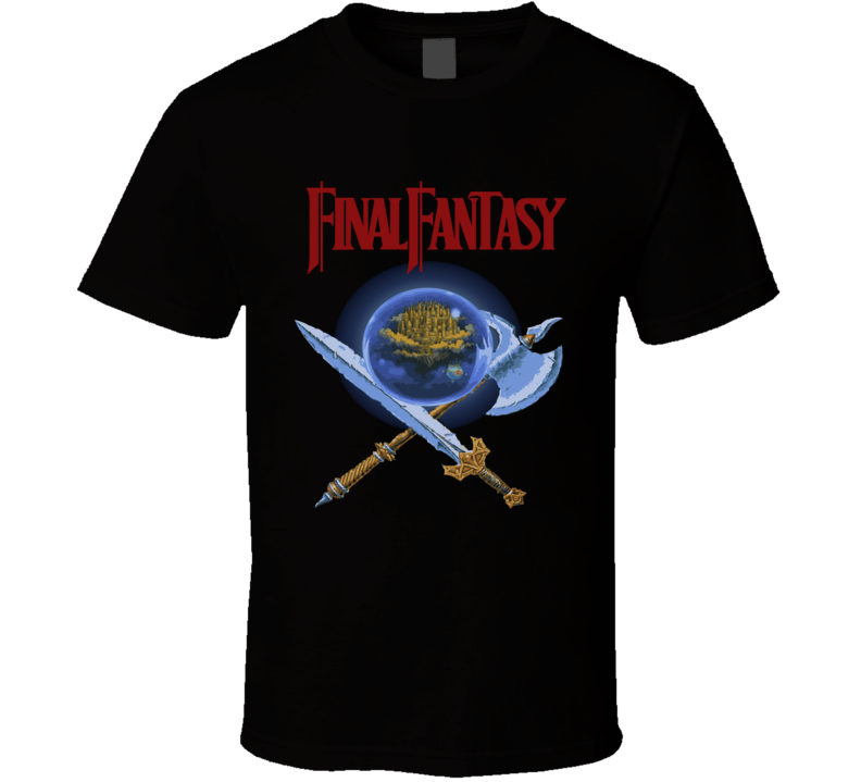 Final Fantasy Nes Box Art Retro Video Game T Shirt
