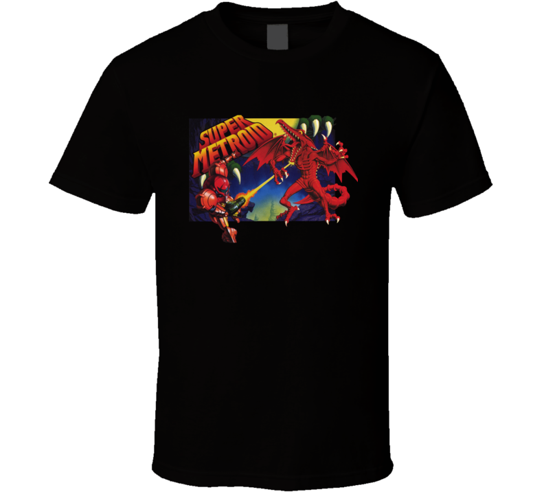 Super Metroid Snes Box Art Retro Video Game T Shirt
