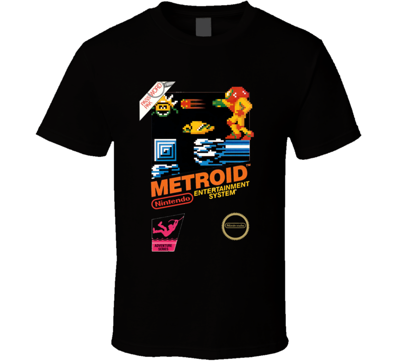 Metroid Nes Box Art Retro Video Game T Shirt