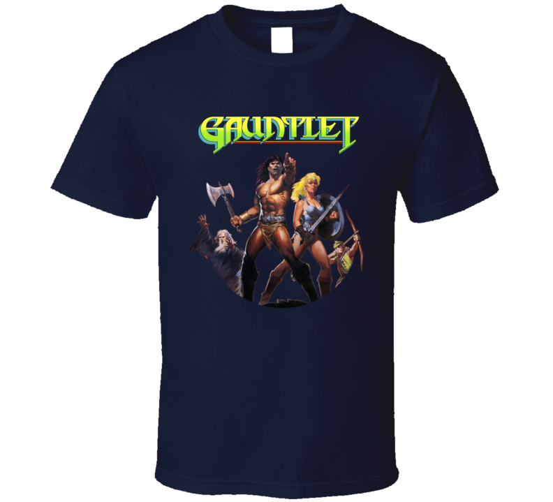 Gauntlet Nes Box Art Video Game T Shirt