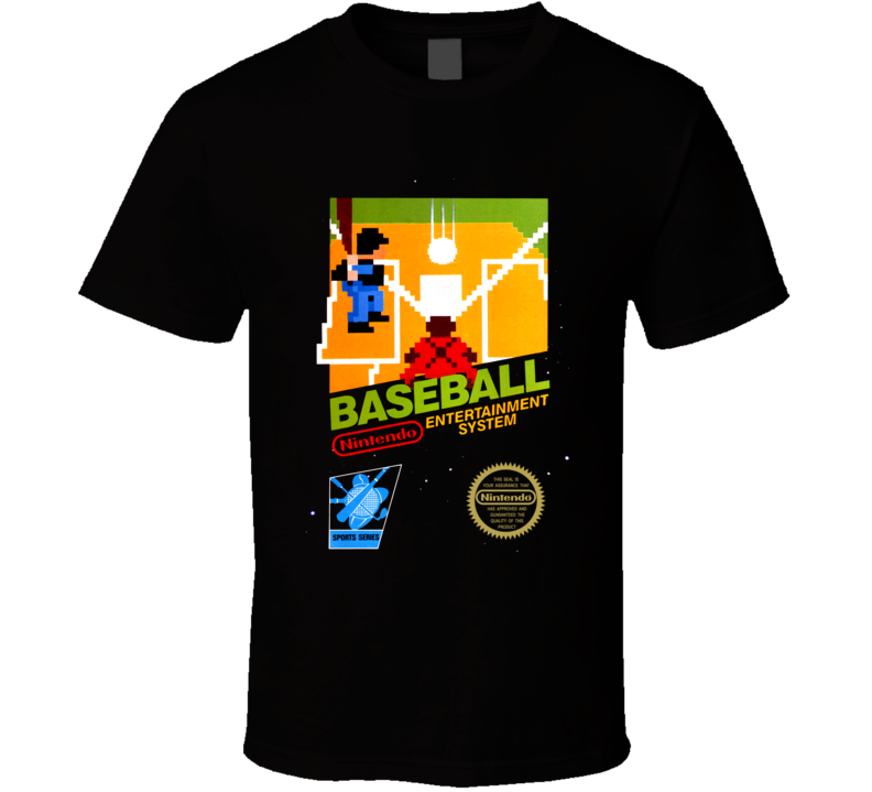 Baseball Nes Black Box Video Game T Shirt