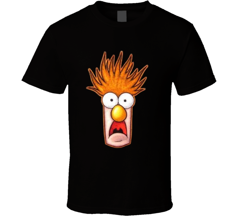 Beaker Big Face Funny Muppets T Shirt
