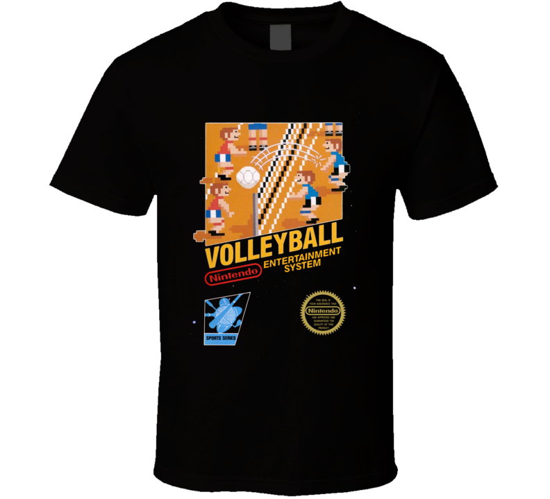 Volleyball Nes Black Box Video Game T Shirt