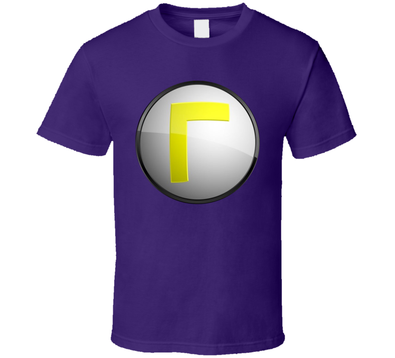 Waluigi Super Mario Logo Video Game T Shirt