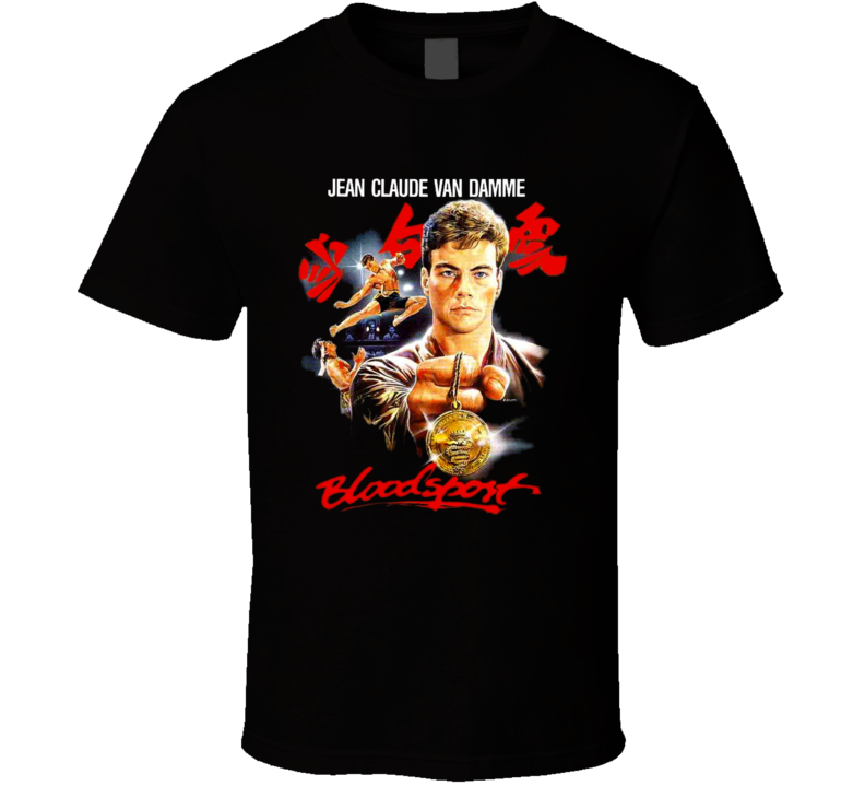 Bloodsport Van Damme 80's Action Movie T Shirt