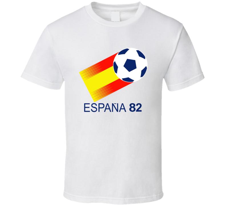 World Cup 1982 Spain Host Logo Soccer T Shirt