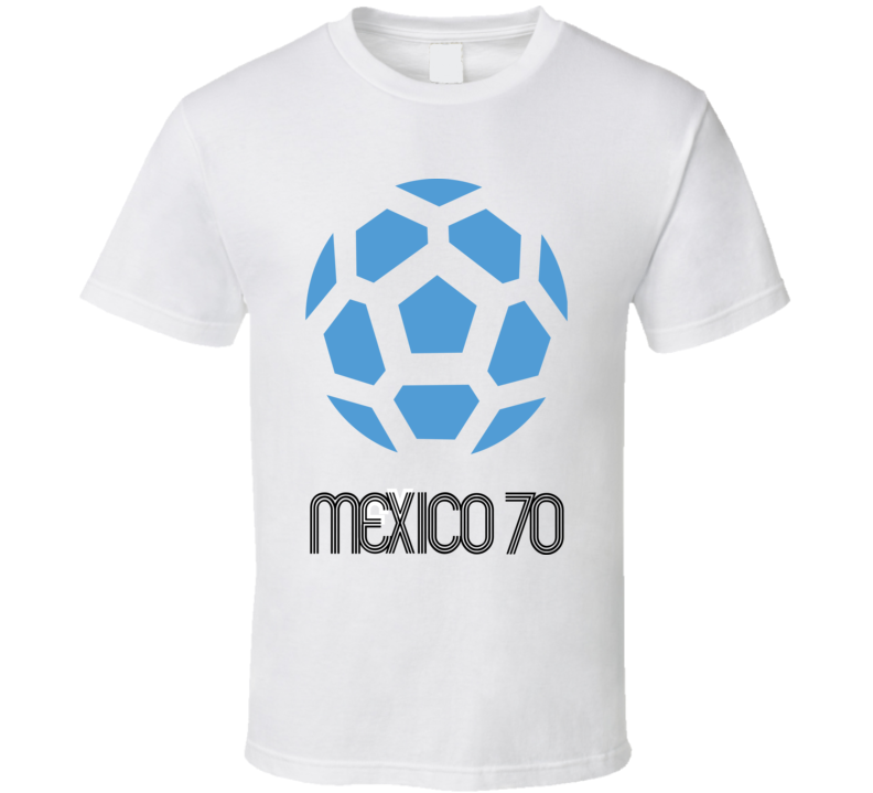 World Cup 1970 Mexico Host Logo Soccer T Shirt