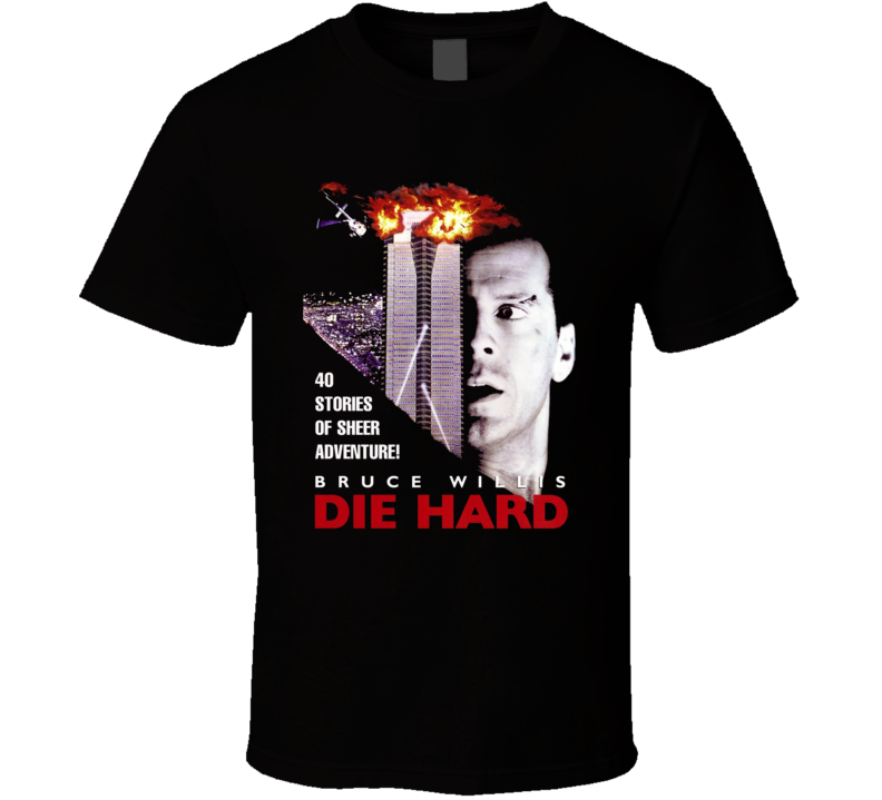 Die Hard Bruce Willis Retro Action Movie T Shirt
